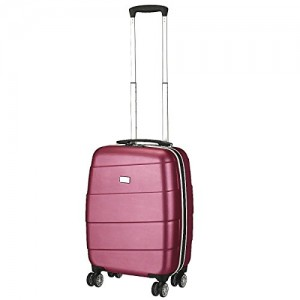 Travelite Koffer Stripes 4-Rad Bordtrolley S, 71347-15 55 cm 37 Liter Pink (Pandora)