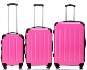 Beibye Reisekofferset mit 3 Trolleys (Boardcase/L/XL)
