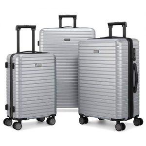 Gonex 3-tlg. Reisekofferset – Hartschale mit TSA